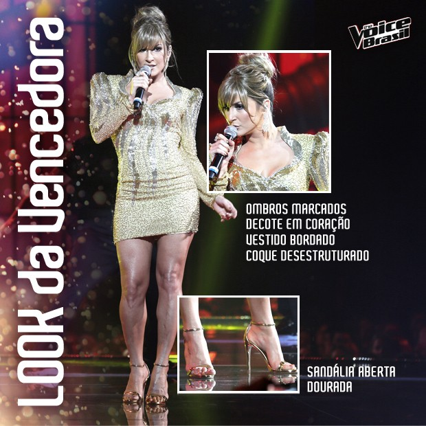 Claudia Leitte look da Final (Foto: The Voice Brasil/TV Globo)