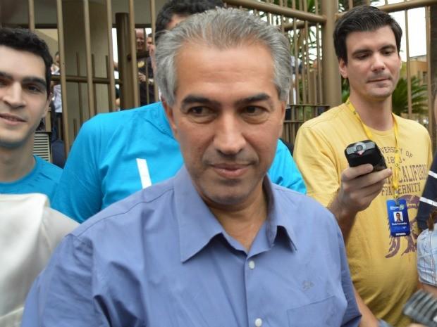 Reinaldo Azambuja foi eleito com mais 50% dos votos em MS (Foto: Anderson Viegas/G1 MS)