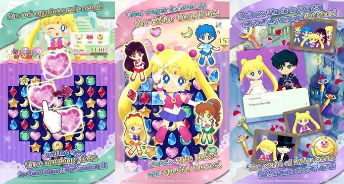 Jogo da Sailor Moon faz sucesso no Android (Foto: Divulgação / Namco Bandai)