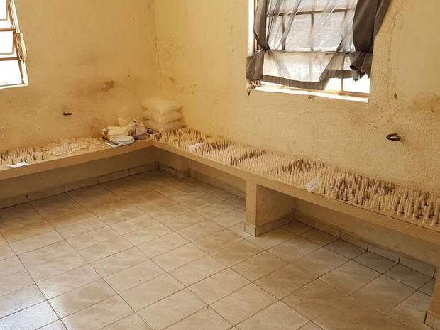 Casa que funcionava como laboratório do tráfico de drogas em Cosmópolis (Foto: Divulgação/Polícia Militar de Cosmópolis)