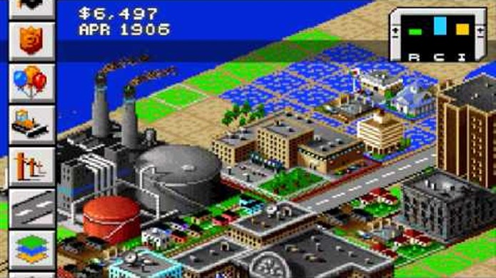 SimCity 2000 para GameBoy Advance oferecia uma conversão competente (Foto: YouTube)