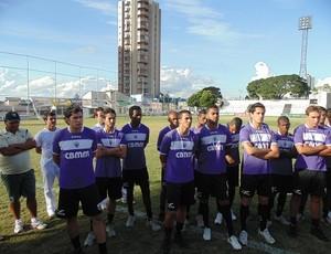Jogadores Araxá Esporte Clube novo elenco  (Foto: Divulgação/AEC)