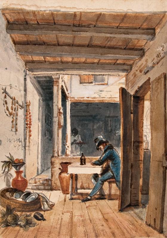 Debret na pensão (Foto: Jean-Baptiste Debret / Acervo da Fundação Biblioteca Nacional/Divisão de Iconografia)