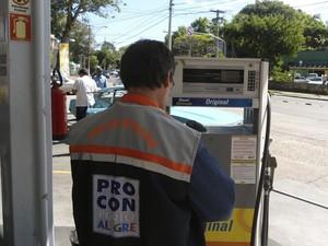 Procon Porto Alegre posto de gasolina (Foto: Divulgação/PMPA)