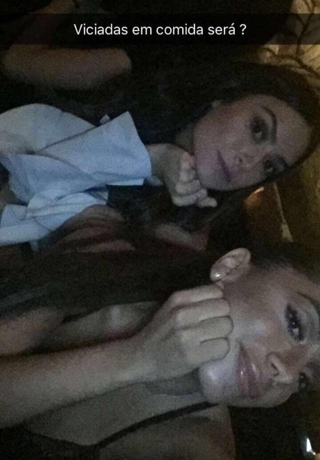 """Thaila Ayala e Anitta: """"viciadas em comida"""" (Foto: Instagram/Reprodução)"""