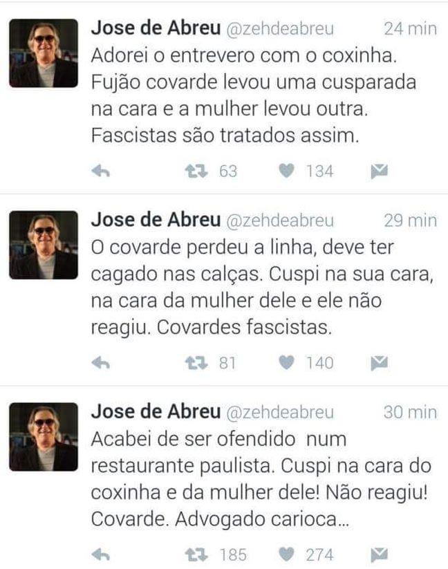 Twitter do ator José de Abreu (Foto: Reprodução / Twitter)