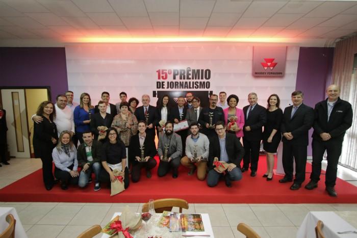 A premiação foi no Rio Grande do Sul, na sede da Massey Ferguson  (Foto: Divulgação)