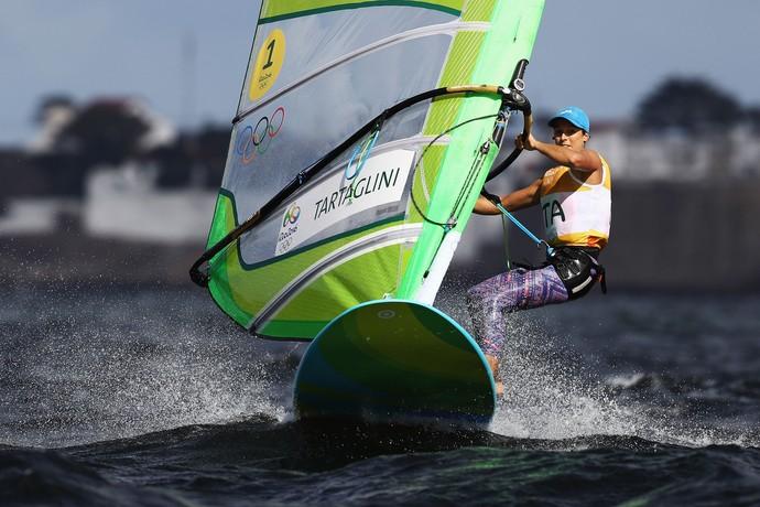 vela; regata; italia; olimpíadas; RS:X; Flavia Tartaglini (Foto: Clive Mason/Getty Images)