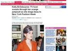 Kelly Osbourne transpira demais e exibe 'pizza' embaixo do braço
