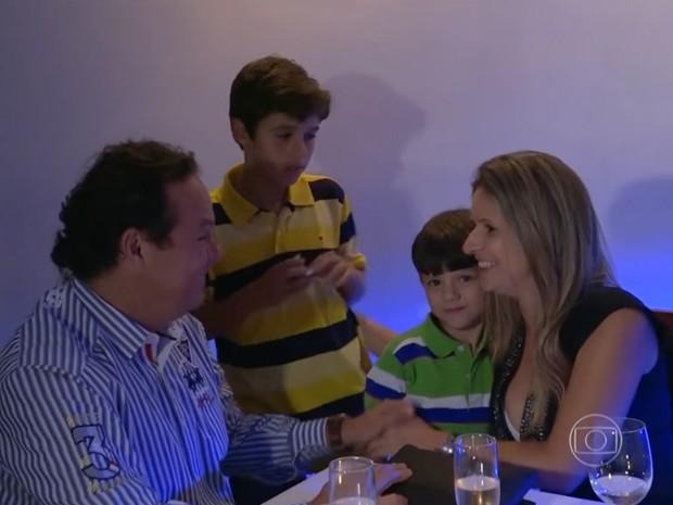 Gustavo e Jaqueline amam fazer surpresas (Foto: TV Globo)