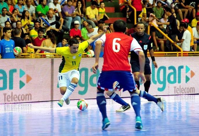 Brasil Paraguai Grand Prix Futsal Uberaba (Foto: Ricardo Artifon/CBFS)