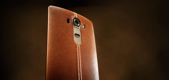 G4 traz uma traseira de couro como atrativo no design (Foto: Divulgação/LG)