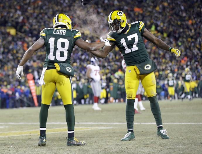 Green Bay Packers x New York Giants - nfl wild card - Cobb e Adams (Foto: Reuters)
