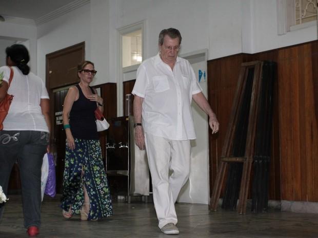 Daniel Filho no velório de Susana Moraes na Zona Sul do Rio (Foto: Foto Rio News)
