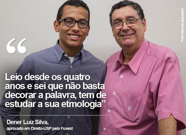 Dener Luiz Silva está com 17 anos; ele foi campeão do Soletando, do Caldeirão do Huck, em 2010, que teve o professor Sérgio Nogueira na equipe de jurados (Foto: Marcelo Brandt/G1)