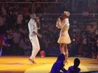 Xuxa leva mãe, pai e namorado ao seu show de Natal no Rio