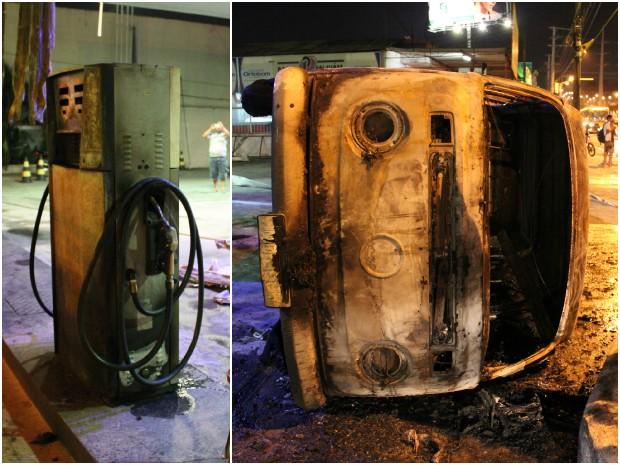 G1 - Veículo <b>pega fogo</b> e destrói parte de <b>posto</b> de <b>gasolina</b>, em <b>...</b> 2014