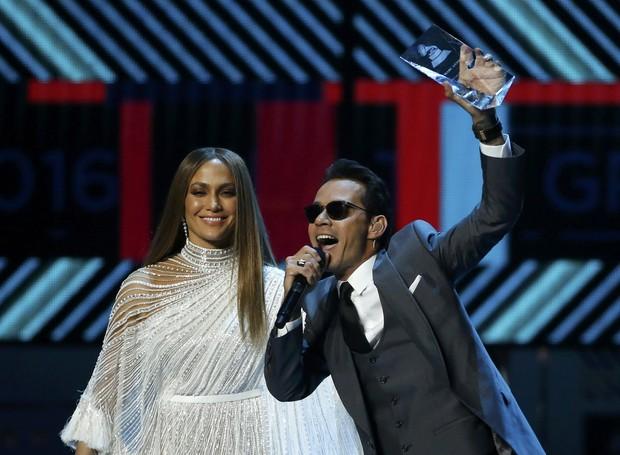 Jennifer Lopez e Marc Anthony em prêmio de música em Las Vegas, nos Estados Unidos (Foto: Mario Anzuoni/ Reuters)