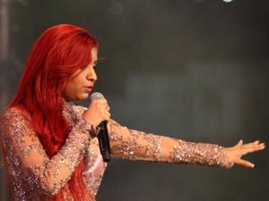 Priscilla Senna, vocalista da banda Musa (Foto: Flávio Alves / G1)