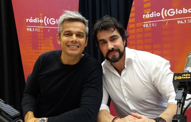 Otaviano Costa e padre Fábio de Melo (Foto: Divulgação)