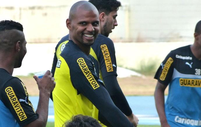 Jefferson Treino Botafogo (Foto: Vicente Seda)