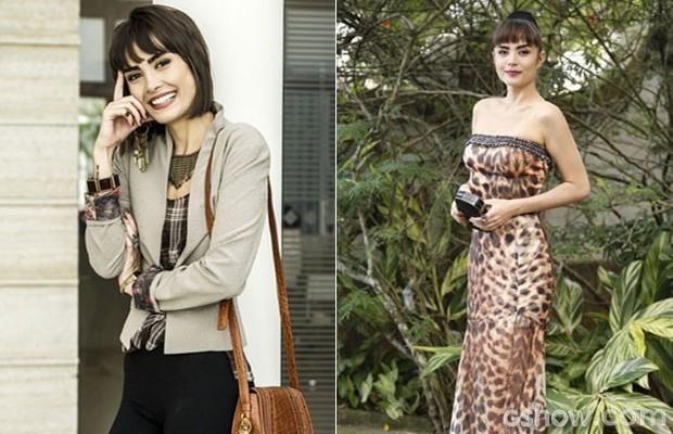 Look para escritório e vestido de estampa felina estão entre os preferidos (Foto: Amor à Vida/TV Globo)