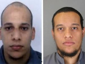 Irmãos Cherif e Said Kouachi (Foto: AP)