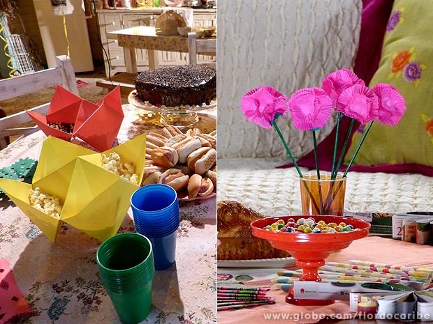 Aprenda a fazer a petisqueira e flores de festinha na casa de Ester (Foto: Flor do Caribe / TV Globo)
