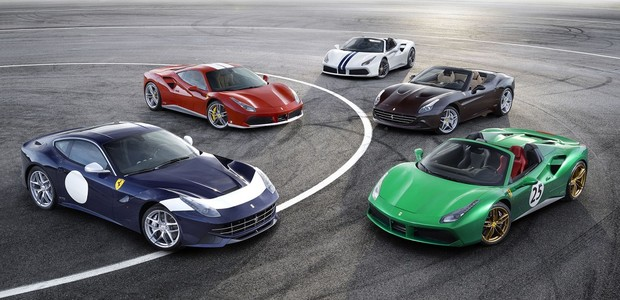 Versões comemorativas da Ferrari anunciadas no Salão de Paris (Foto: Divulgação)