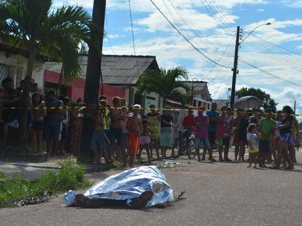 Morte, mulher, remtarícula, filho, Macapá, Amapá (Foto: Jorge Abreu/G1)