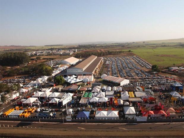 Vista aérea do Centro de Eventos Zanini, em Sertãozinho (SP), que recebe a Fenasucro e a Agrocana (Foto: Divulgação/ Fenasucro e Agrocana)