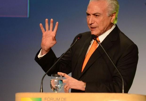 Michel Temer no Fórum de Investimentos Brasil 2017 (Foto: Agência Brasil)