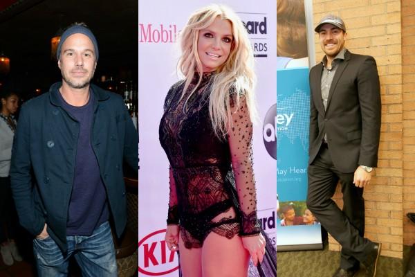Jason Trawick, Britney Spears e David Lucado (Foto: Getty Images)