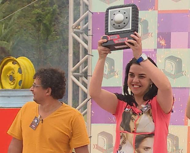 Daniela de Paula vence o Ruim de Roda (Foto: TV Globo)