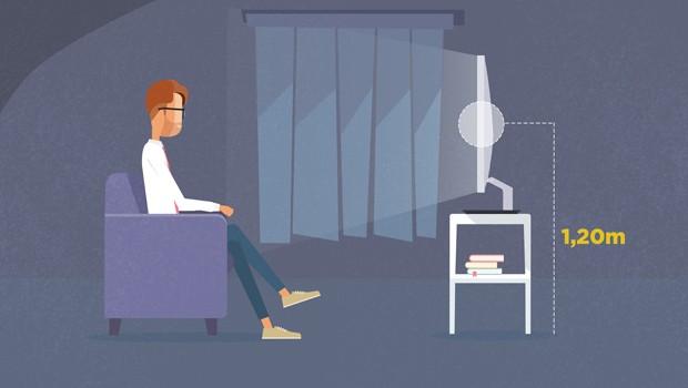 Você sabia que o local onde fica a sua TV faz toda a diferença? (Foto: Divulgação/ RPC)
