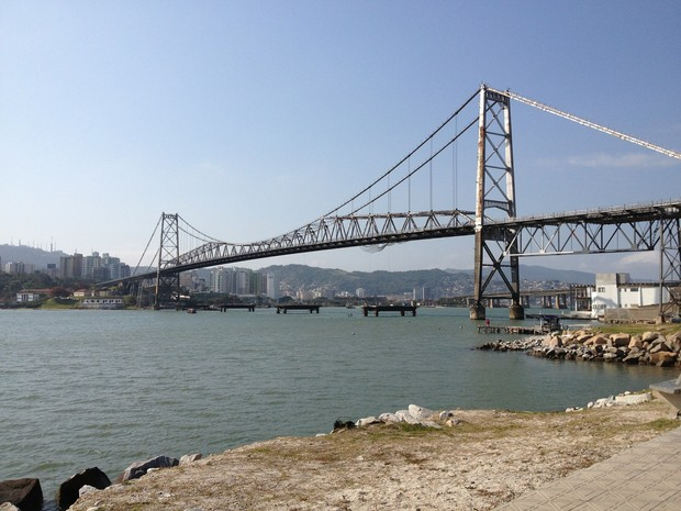 Ponte Hercílio Luz (Foto: Lisandra Nienkoetter/G1)
