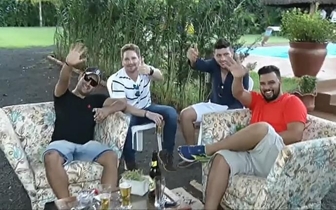 Amigos do Luan Santana comemoram o aniversário do cantor (Foto: TV Globo)