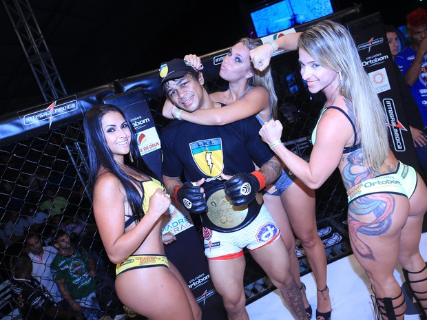 Ex-BBB Marien no Jungle Fight 65, que acontece em Madre de Deus, na Bahia (Foto: Fred Pontes/ Divulgação)