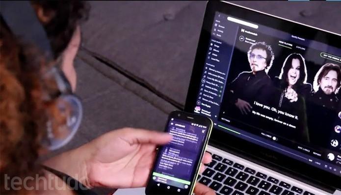 Spotify é um dos mais famosos serviços de streaming de músicas (Foto: Lucas Mendes/TechTudo)