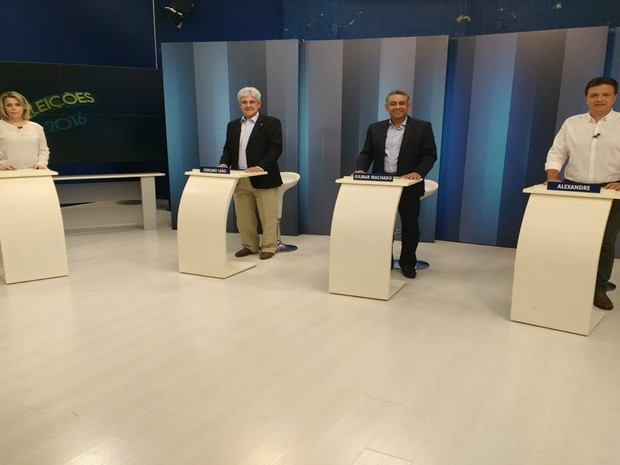 Debate Uberlândia (Foto: Vanessa Pires/G1)