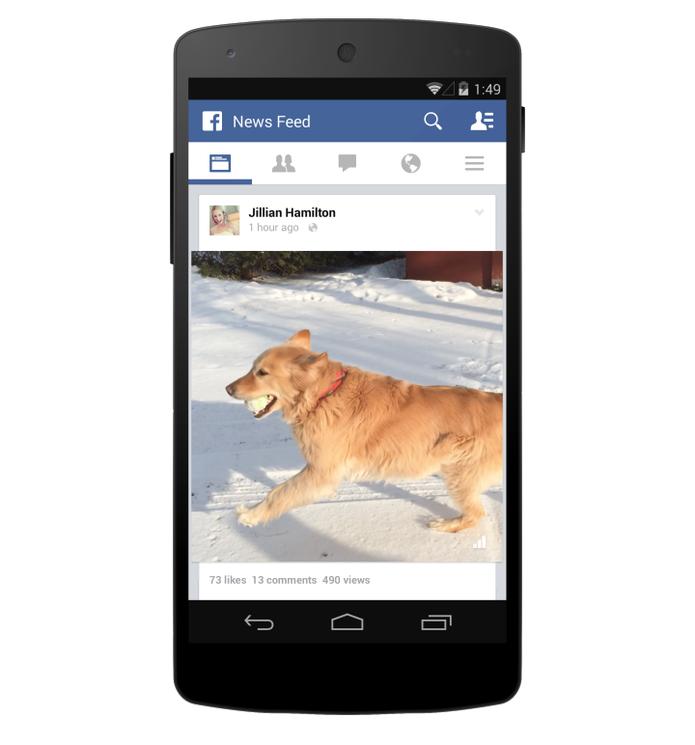 Mais vídeos em auto-play; Facebook cria também contagem de visualizações (Foto: Divulgação/Facebook)