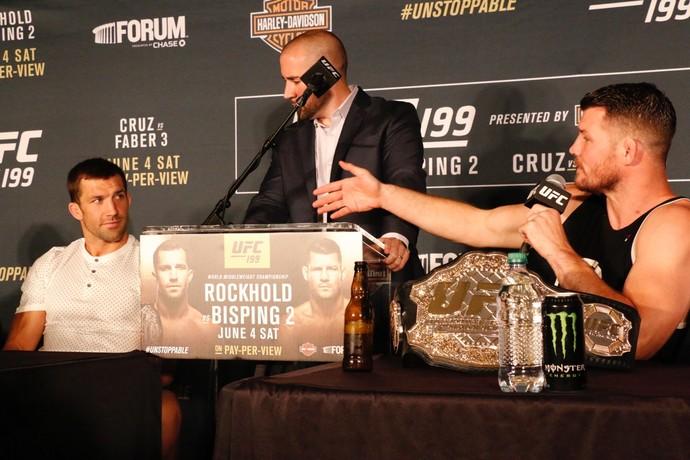 Michael Bisping Luke Rockhold UFC 199 (Foto: Evelyn Rodrigues)