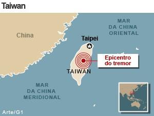 mapa terremoto taiwan 27/3 (Foto: 1)