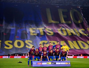 messi bandeira barcelona x  Athletic bilbao (Foto: Getty Images)