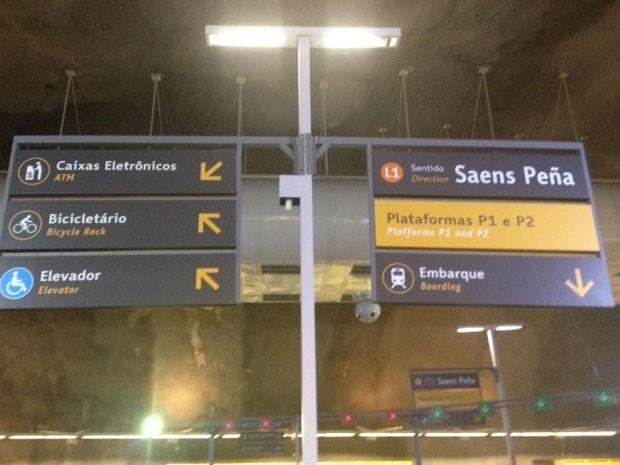 Estação General Osório tem nova sinalização (Foto: Alba Valéria Mendonça/G1)