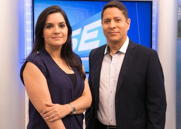 Lanne Pacheco e Ricardo Marques apresentam o SETV 1ª Edição desta terça-feira, 09 (Foto: Divulgação / TV Sergipe)
