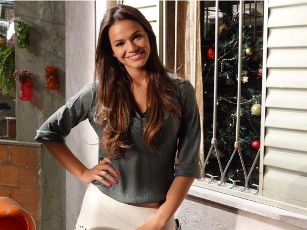 Marquezine revela que está apaixonada nos bastidores  (Foto: Salve Jorge / TV Globo)