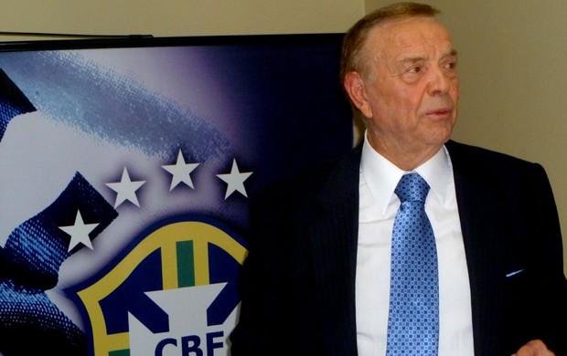 José Maria Marin presidente da CBF (Foto: Marcelo Baltar / Globoesporte.com)