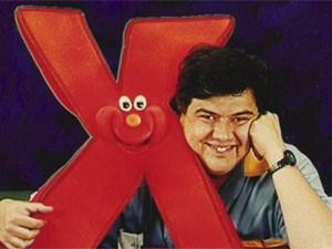 O ator Márcio Ribeiro na época em que apresentava o programa 'X-Tudo' (Foto: Divulgação)