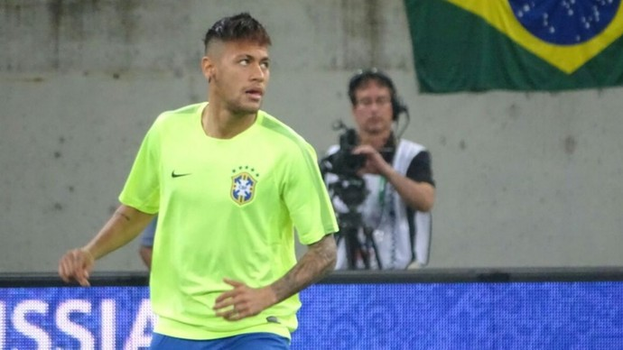 Neymar Brasil x Uruguai (Foto: Reprodução/Twitter)